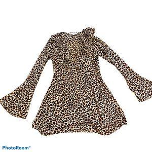 Victoria's Secret cheetah flare sleeve tunic XS